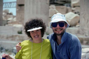 Janet and Steve on Watercolor Workshop in Greece